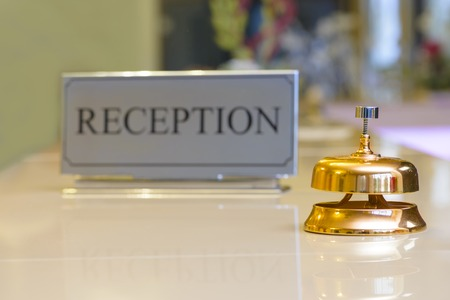 Reception Bell at the hotel