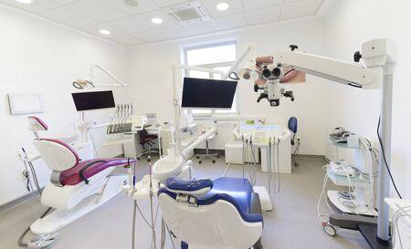 Innenraum einer Zahnarztpraxis Standard-Bild