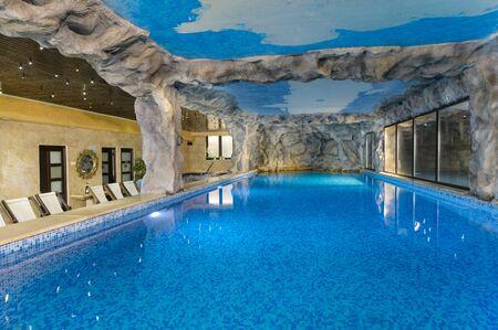 Modern pool in a touristic resort