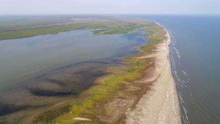 Aerial view of Sacalin peninsula in Danube delta, Romania Standard-Bild