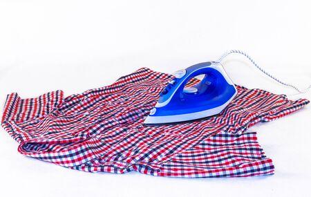 ironing: ironing white background Stock Photo