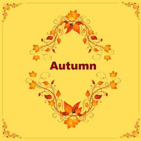 late autumn: autumn patterns Illustration