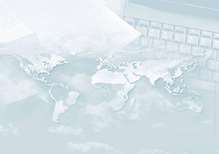 a window on the world: world Stock Photo