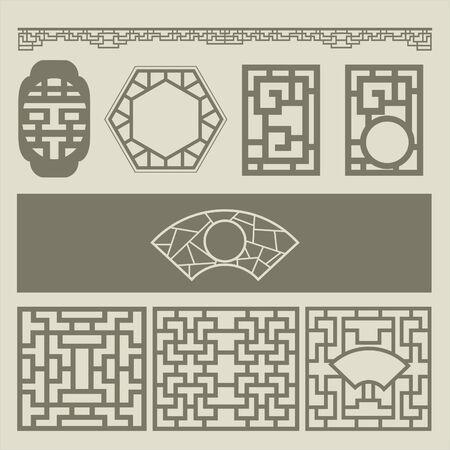 traditional pattern: windows