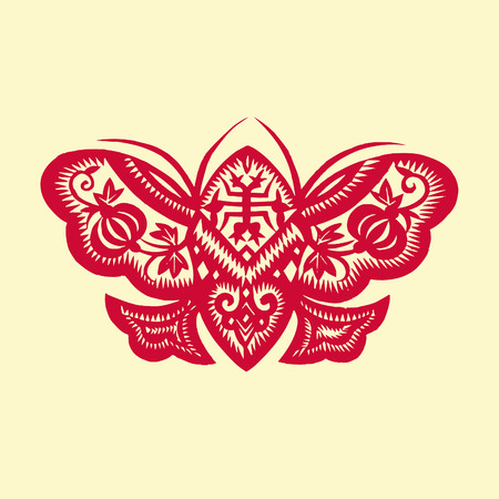 paper cut: butterfly