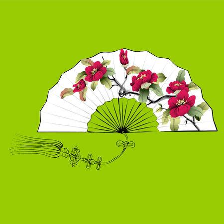 flores chinas: ventilador