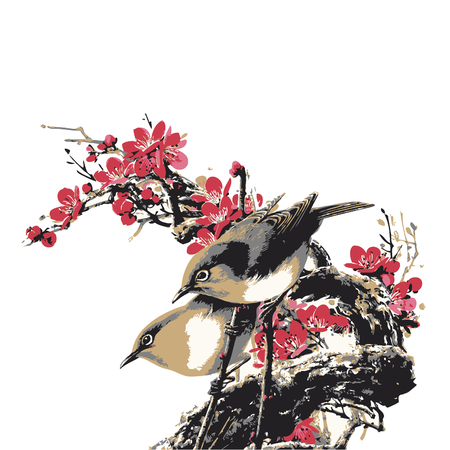 backround: birds Illustration