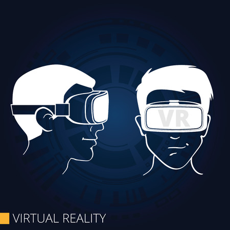 Vector drawing of 3d glasses virtual reality Illustration