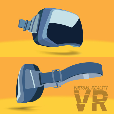 full face: Virtual reality glasses side view and full face