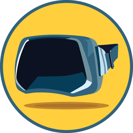 Virtual reality VR glasses full face view