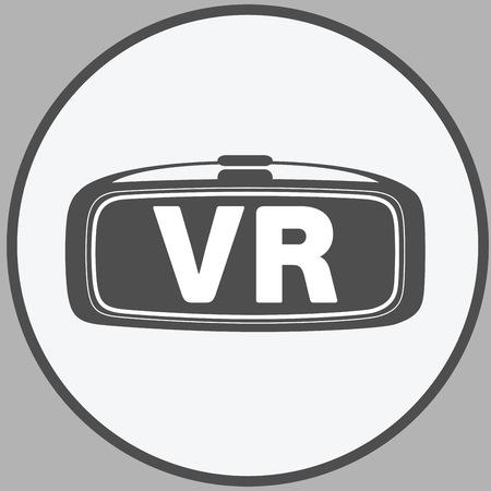 realidad gafas virtuales VR icono de vector plana