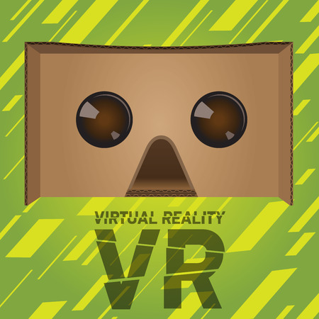 stereoscopic: VR virtual reality cardboard headset device for smartphones
