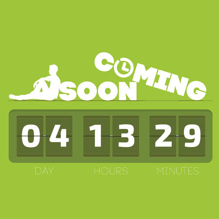 countdown: Comming soon with countdown timer illustration