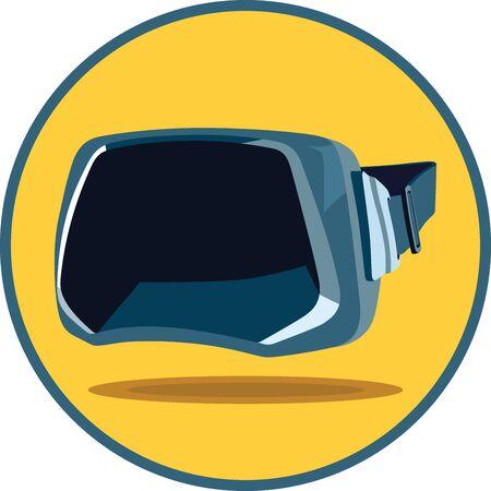 virtual reality simulator: Virtual reality glasses icon vr goggles