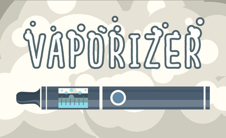 vapor: Electronic cigarettes vape vapor vaporizers Vector illustration