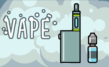 vaporized: Electronic cigarettes vape vapor vaporizers Vector illustration