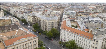 Budapest from a birds eye viewpoint. Hungarian