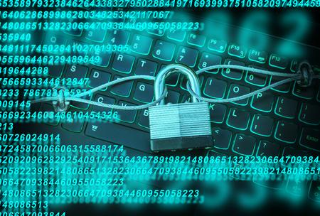 PC Computerbeveiliging Stockfoto
