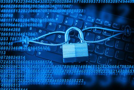 PC Computer Security Stock Photo