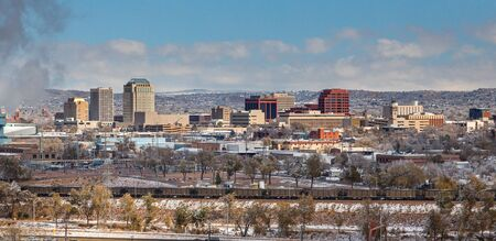 Downtown Colorado Springs in the Winter