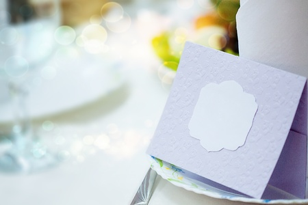 Reservation note on the table at the restaurant Stock Photo - 16413317