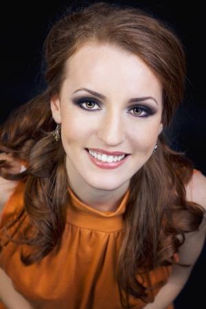 Close up portrait of a girl smiling  Фото со стока