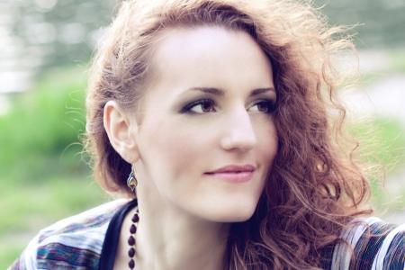 beautiful portrait of a  redhead girl