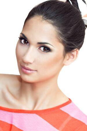 a close up portrait of a beautiful brunette  Stock Photo - 18290852