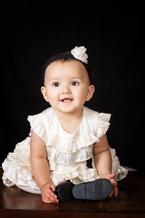 Portrait of a beautiful little girl smiling