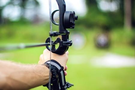 boogschutter: Close-up foto van een schutter met een boog