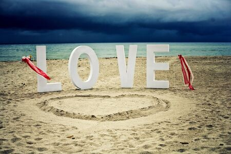 decoration: Wedding decoration and wedding ceremony on the beach