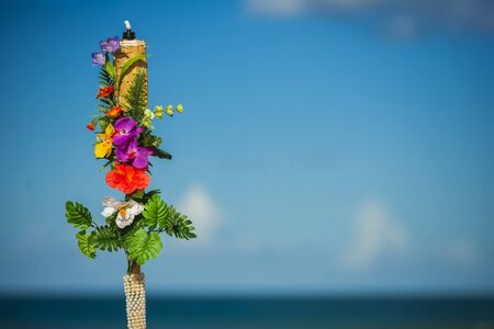 Wedding decoration and wedding ceremony on the beach