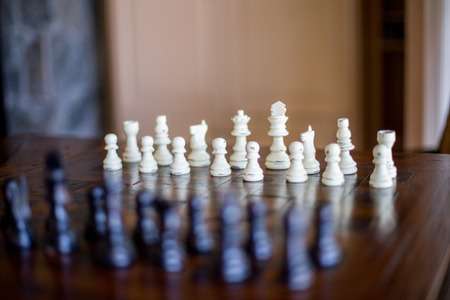 Chess game table Standard-Bild