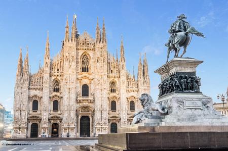 Vista prospettica del Duomo Archivio Fotografico