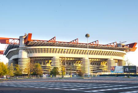 Giuseppe Meazza-San Siro stadion, Milánó Stock fotó - 23674258