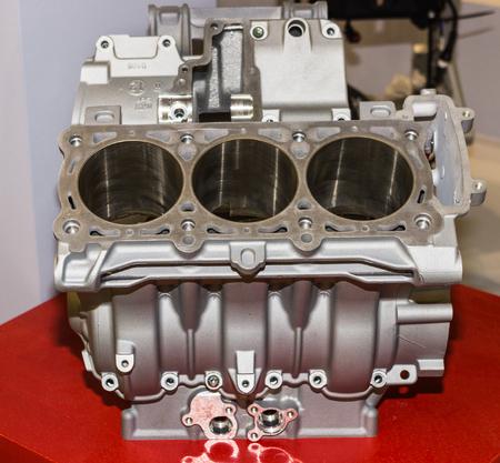 explosion engine: big engine motorbike Stock Photo