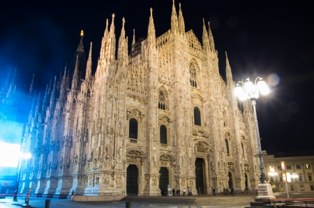 Beatiful Duomo cathedral in centre of Milan,Italy photo