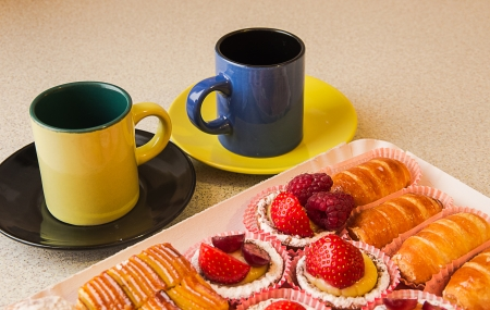 Delightful italian pastries and cookies served with original espresso photo