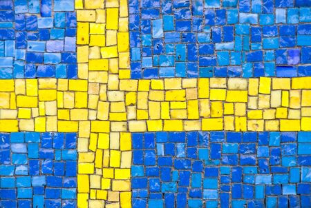 sweden flag: Flag of Sweden with mosaic texture