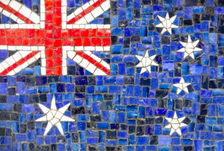 new zeland: Mosaic texture of new zeland flag