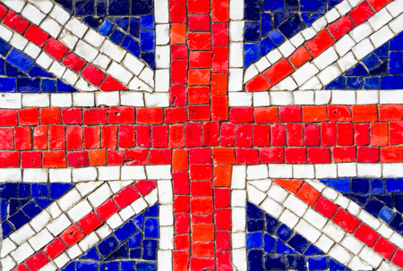 Flag of United Kingdom with mosaic texture photo