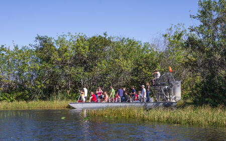permits: EVERGLADES - NOVEMBER 30  tourists on airboat Everglades National Park in South Florida has stopped issuing new permits for private airboats Editorial