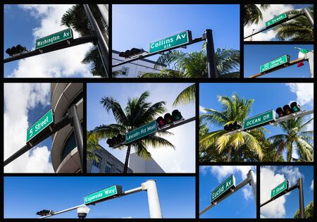 milepost: composition with streets of Miami