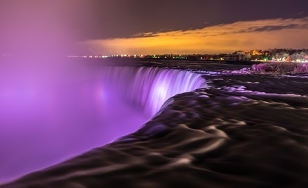 Light show at Niagara Falls  photo