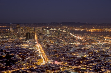 San Francisco panoramic view from Twin Peaks