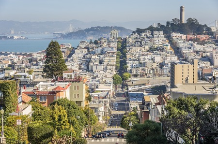 residential district: San Francisco panoramic view