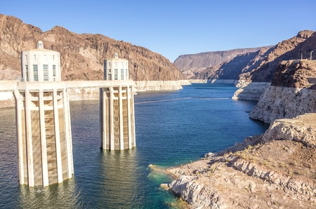 hoover: Hoover Dam on the border of Arizona and Nevada