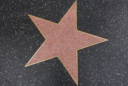 walk of fame: Hollywood star on the Walk of Fame