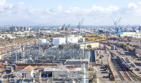 San Diego Hafen-und Industriegebiet Editorial
