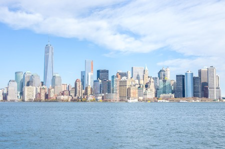 Manhattan skyline from Hudson river